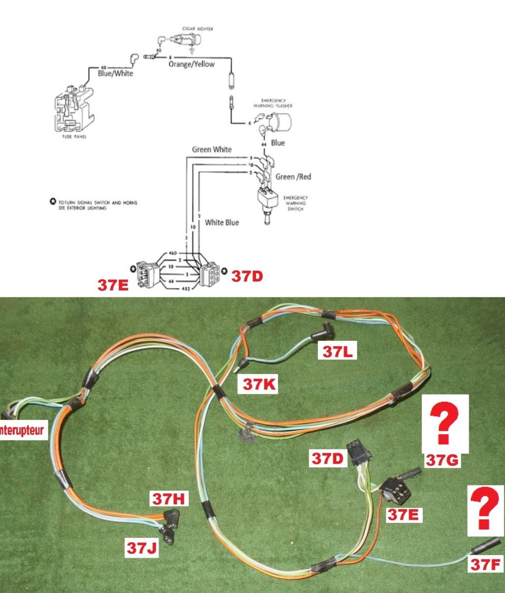 Mustang 1966: Sa se branche ou ? réponse à cette question ! Diagramme électrique  Emerge12