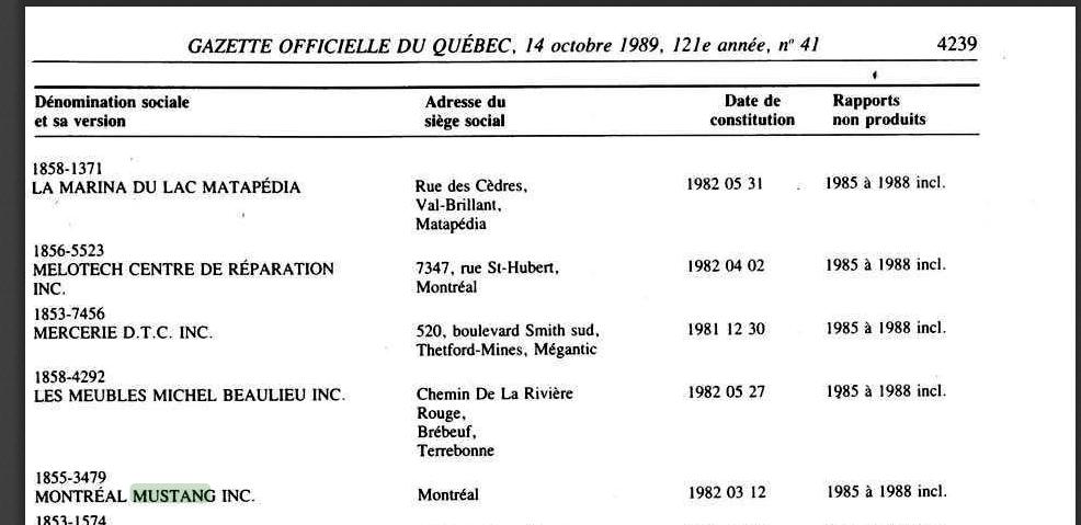 Montréal Mustang dans le temps! 1981 à aujourd'hui (Histoire en photos) - Page 7 Montrz11