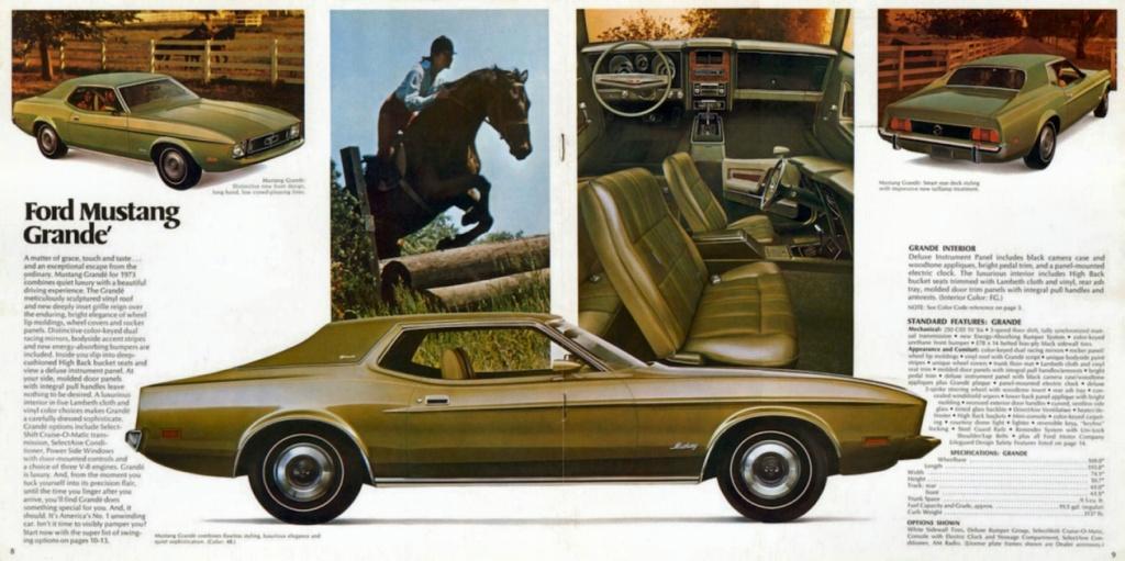 Brochure de vente: Mustang 1973 (version anglaise août 1972) N_197313