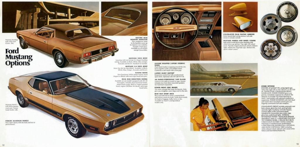 Brochure de vente: Mustang 1973 (version anglaise août 1972) N_197317
