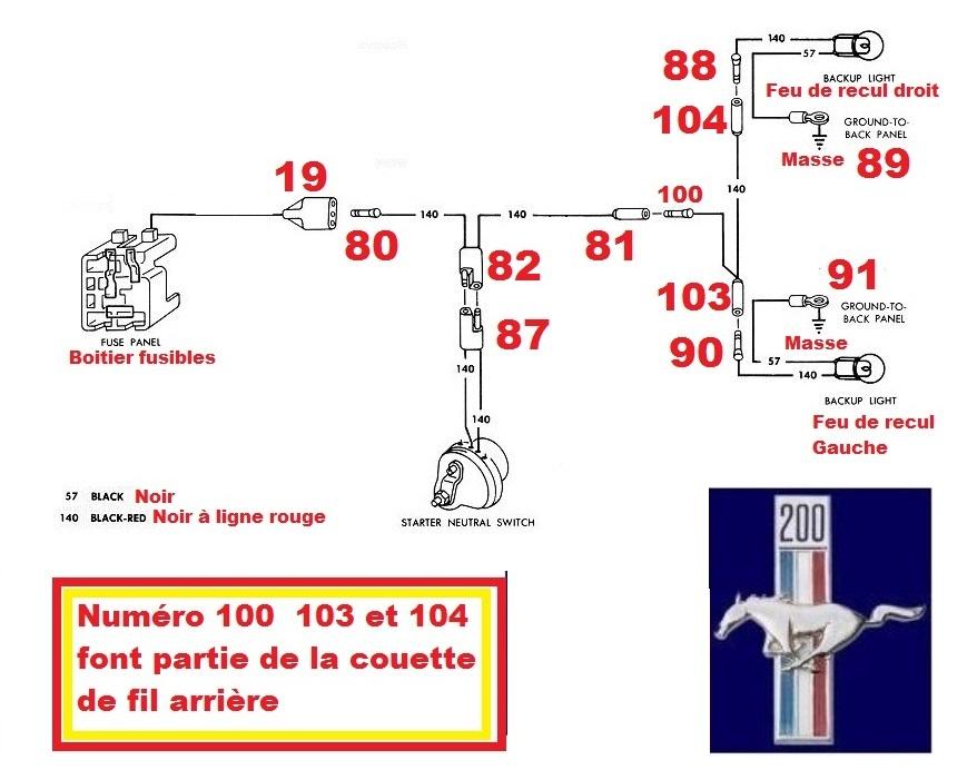 Mustang 1966: Sa se branche ou ? réponse à cette question ! Diagramme électrique  Neutra12