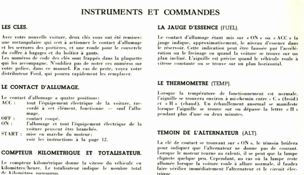 Mustang 1966 : Manuel d'entretien en français, édition de France Nouve199
