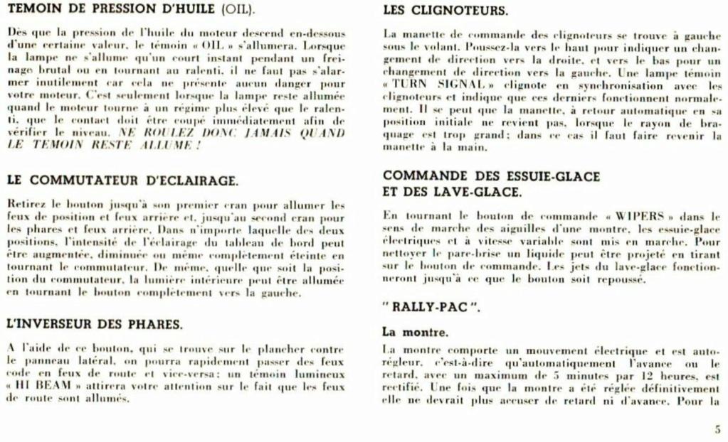 Mustang 1966 : Manuel d'entretien en français, édition de France Nouve200