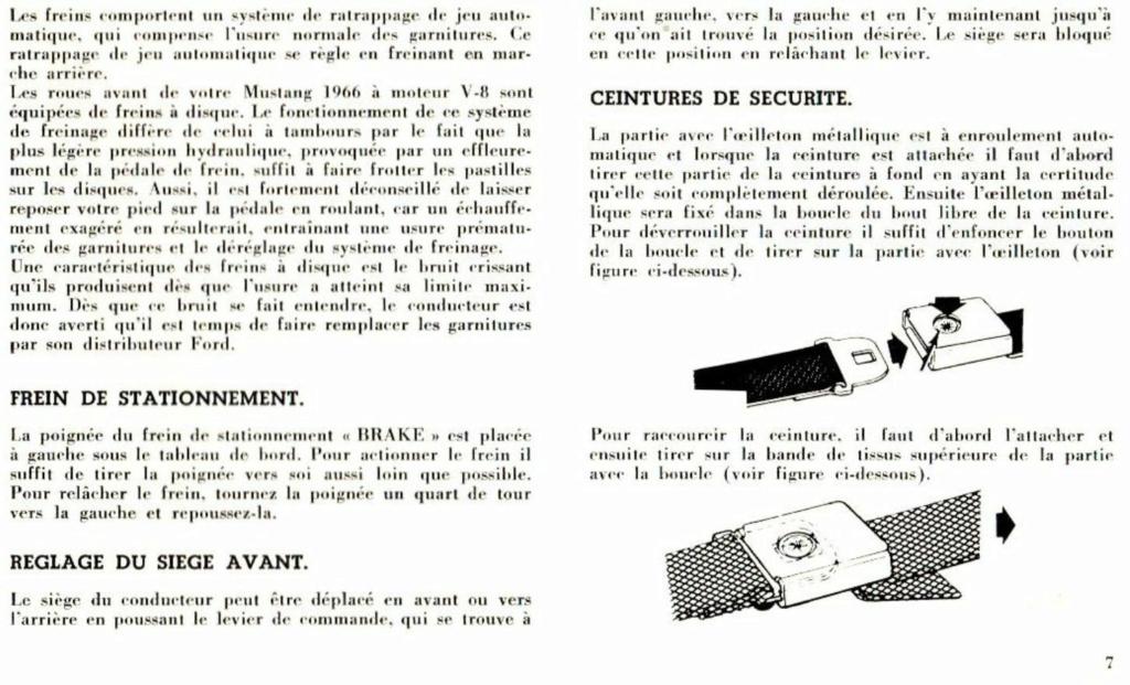 Mustang 1966 : Manuel d'entretien en français, édition de France Nouve202