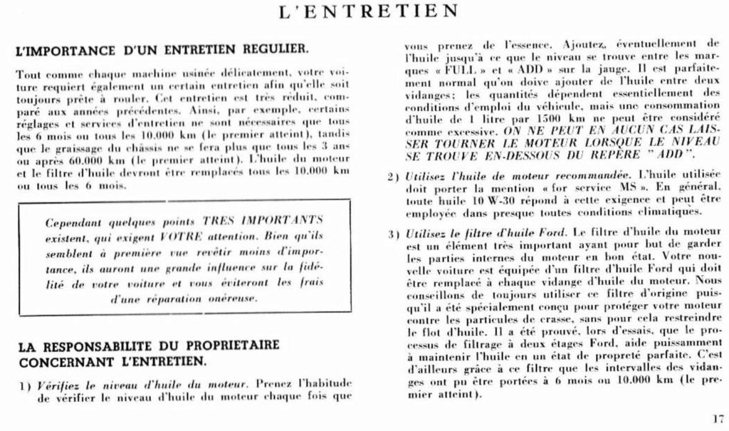 Mustang 1966 : Manuel d'entretien en français, édition de France Nouve211
