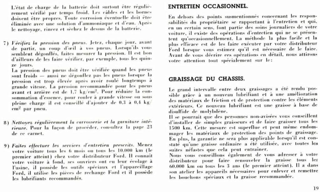 Mustang 1966 : Manuel d'entretien en français, édition de France Nouve214