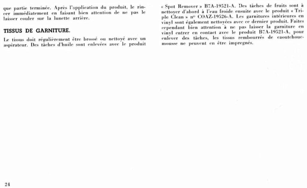 Mustang 1966 : Manuel d'entretien en français, édition de France Nouve216