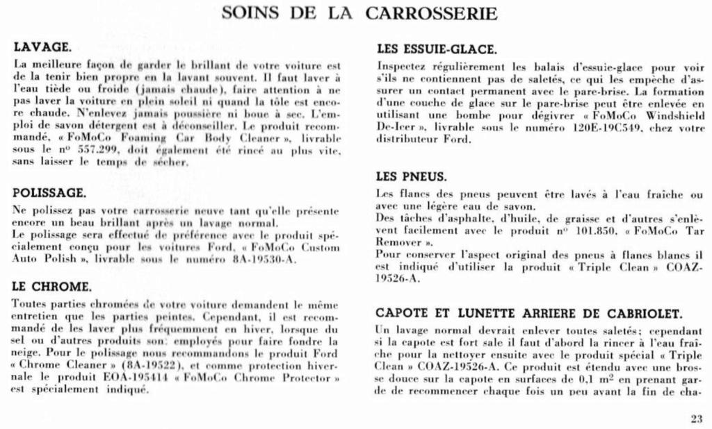 Mustang 1966 : Manuel d'entretien en français, édition de France Nouve218
