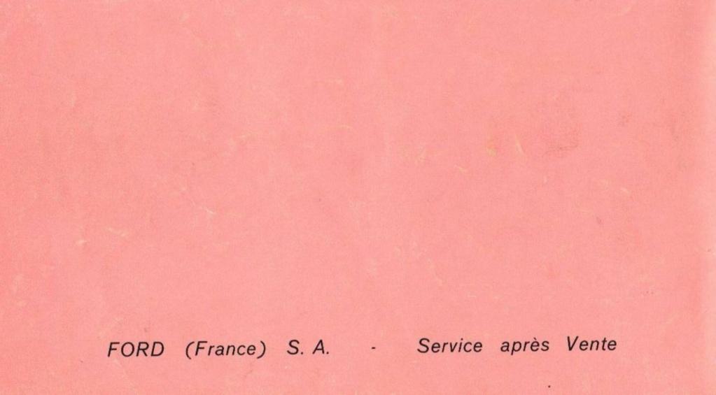 Mustang 1966 : Manuel d'entretien en français, édition de France Nouve219