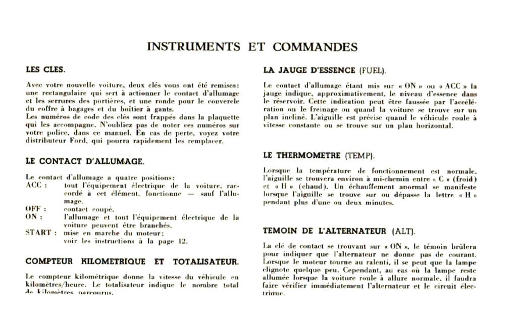 Mustang 1966 : Manuel d'entretien en français, édition de France Nouve222