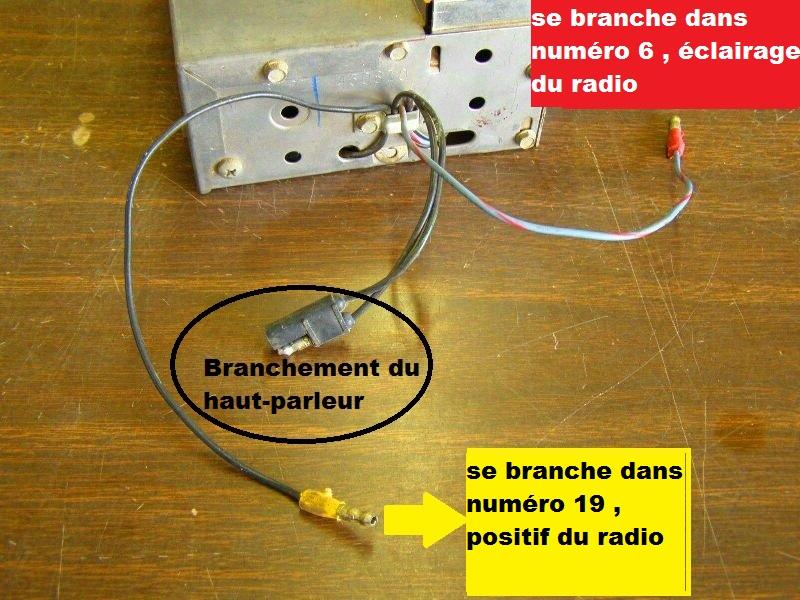 Mustang 1966: Sa se branche ou ? réponse à cette question ! Diagramme électrique  - Page 2 Radio11