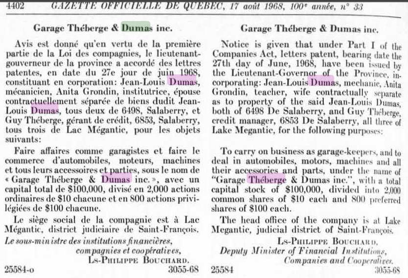 Garage Théberge et Dumas  inc.(Auto Latulippe & Dumas inc.) Thzobe12