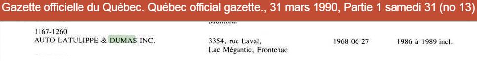 Garage Théberge et Dumas  inc.(Auto Latulippe & Dumas inc.) Thzobe16