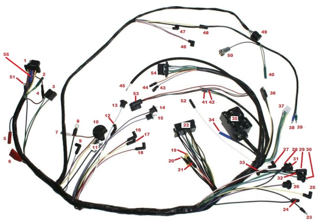 Mustang 1966: Sa se branche ou ? réponse à cette question ! Diagramme électrique  Underd10