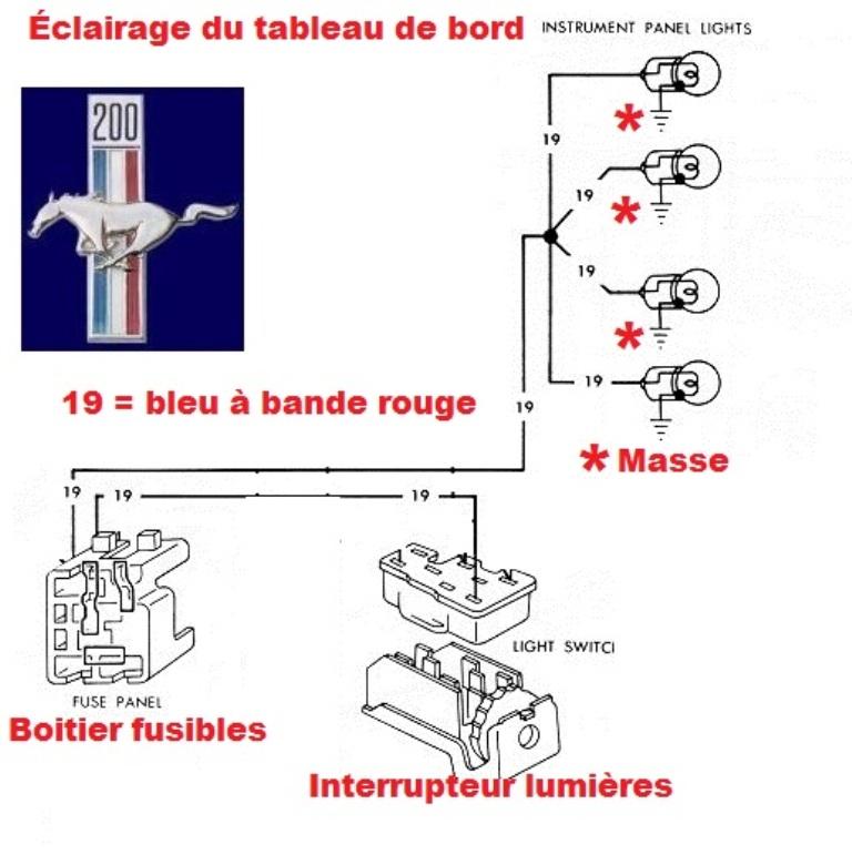 Mustang 1966: Sa se branche ou ? réponse à cette question ! Diagramme électrique  Zoclai10