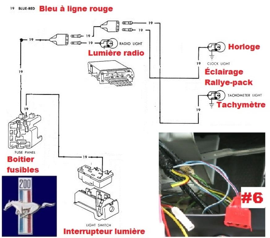 Mustang 1966: Sa se branche ou ? réponse à cette question ! Diagramme électrique  Zoclai11
