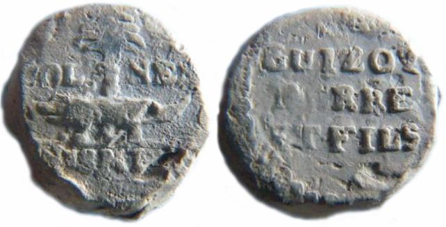 Les plombs de soyeux de Nîmes. For10111