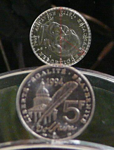 5 francs Voltaire 1994 désaxée Voltai11