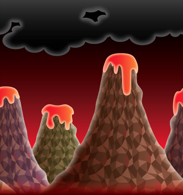 Volcano Background Screen10
