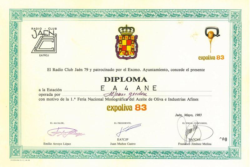 ACTIVIDADES EN JAÉN - AÑOS 80 Diplom10