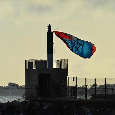 Une voile de kite en drapeau Drapea10