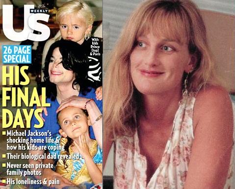 Debbie Rowe está preocupada com a exposição de seus filhos. Hhh10