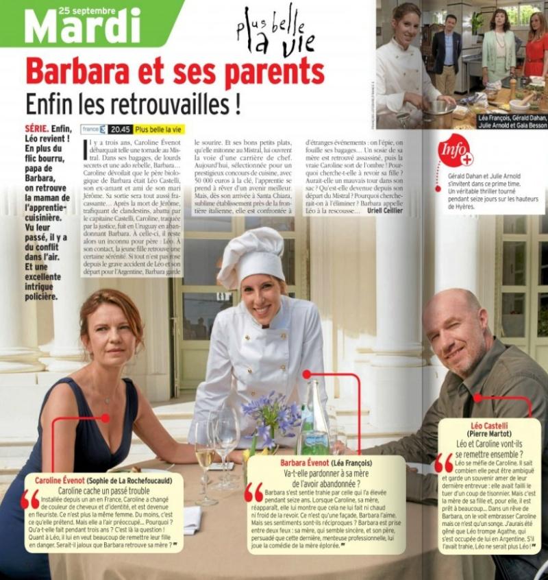 Léa François dans le télé 7 jours du 29 septembre au 5 octobre 2012 42078810