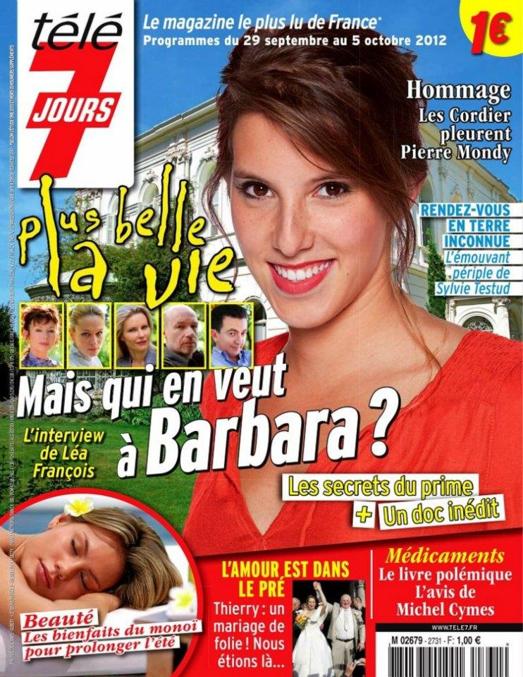 Léa François dans le télé 7 jours du 29 septembre au 5 octobre 2012 52383610