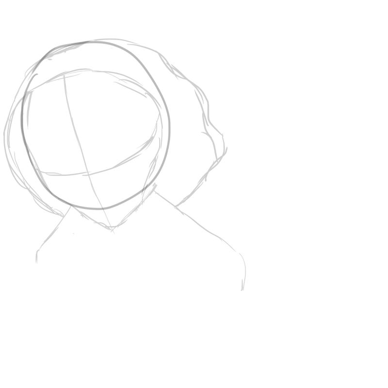 Etapes du dessin d'une jeune fille.  New_ca14