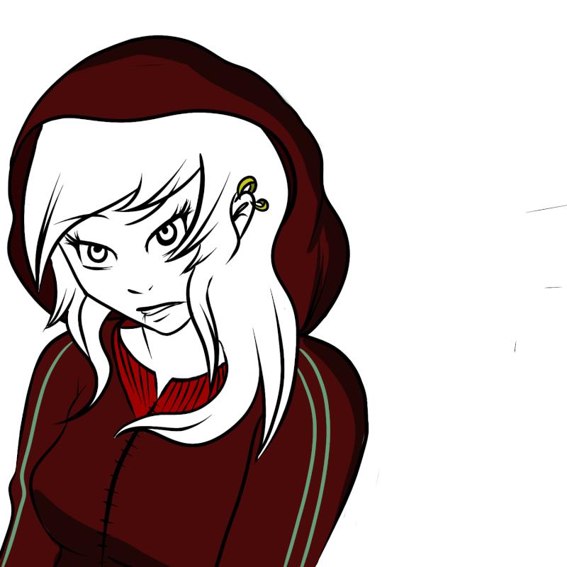 Etapes du dessin d'une jeune fille.  New_ca19