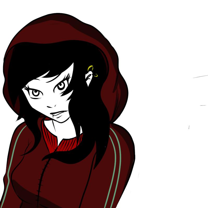 Etapes du dessin d'une jeune fille.  New_ca20