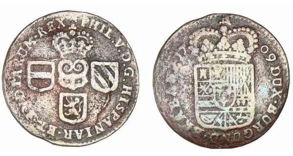 Liard de Namur pour Philippe V (Pays-Bas espagnols) 1709 ou 1710 Belgiq10