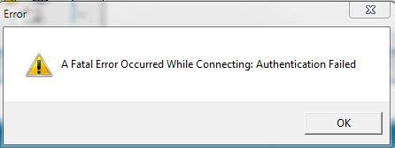 Authentication Failed NL TCP Authfa11