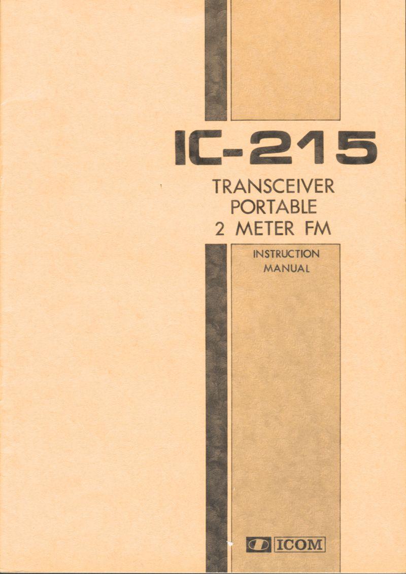 Icom IC-215 (Portable (Vintage) 0011