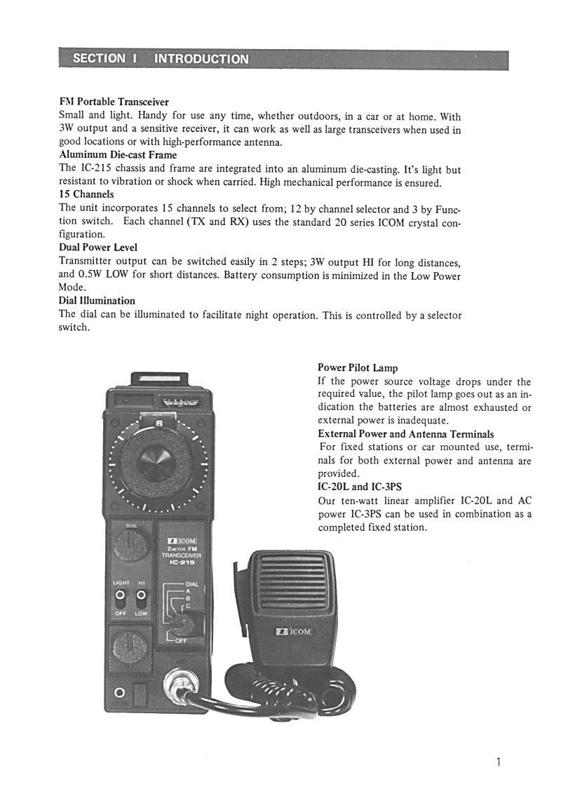 Icom IC-215 (Portable (Vintage) 0113
