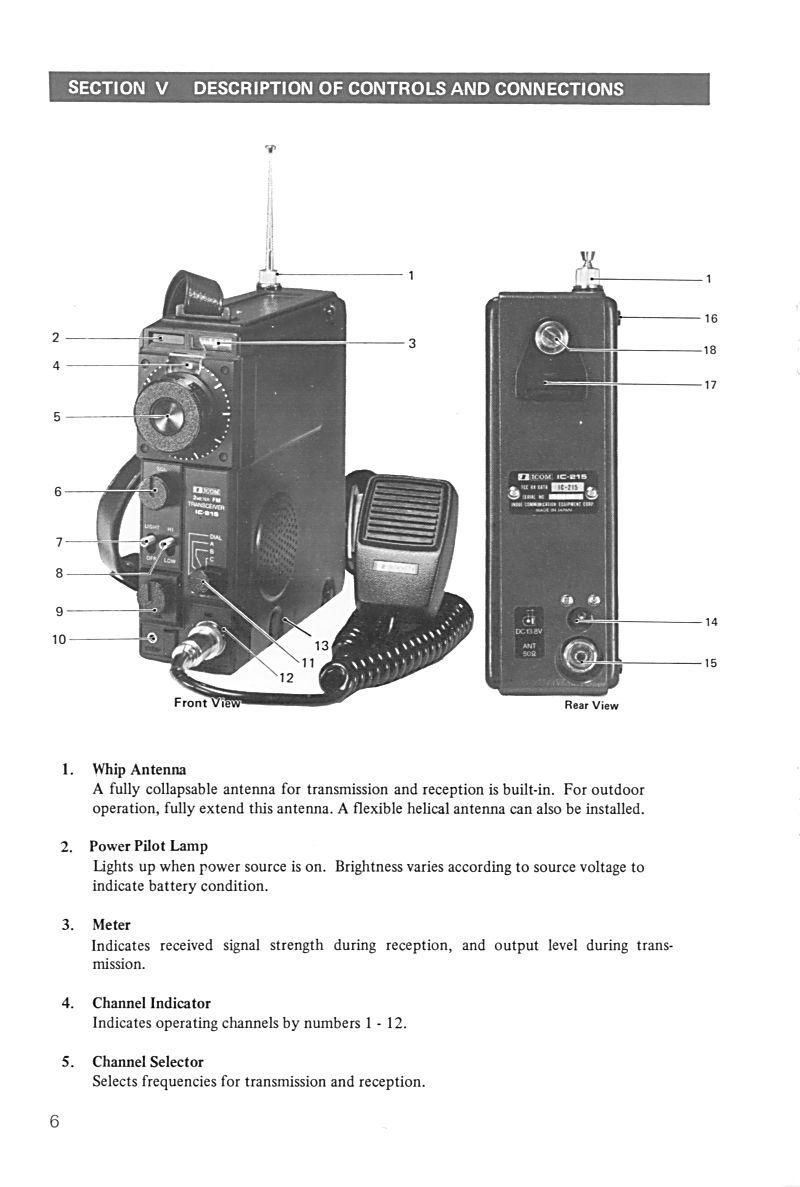 Icom IC-215 (Portable (Vintage) 0611
