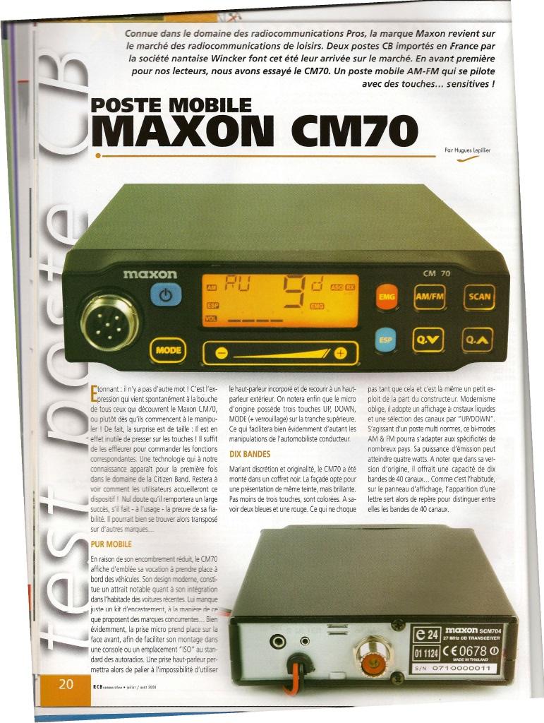 Maxon CM70 (Mobile) 179-210