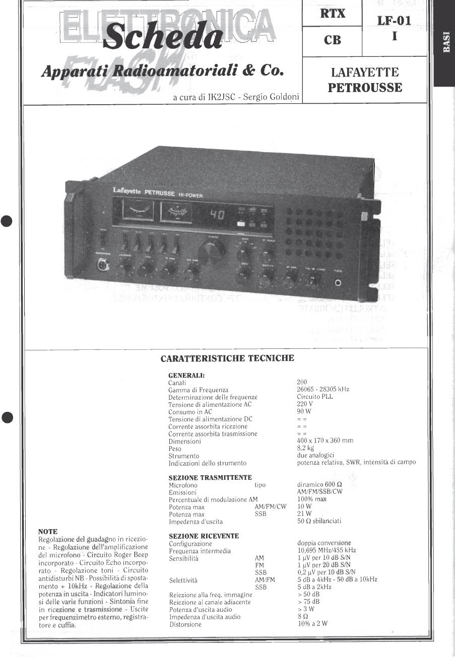 Lafayette Petrusse Hi-Power (Base 27 Mhz - 200 Cx )  Capt1021