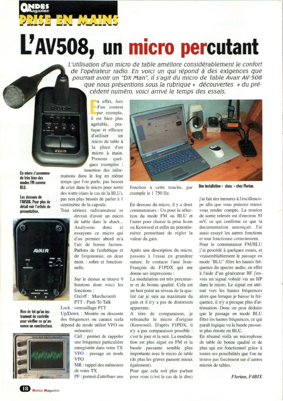 fixe - AV508 (Micro de table) Captu126