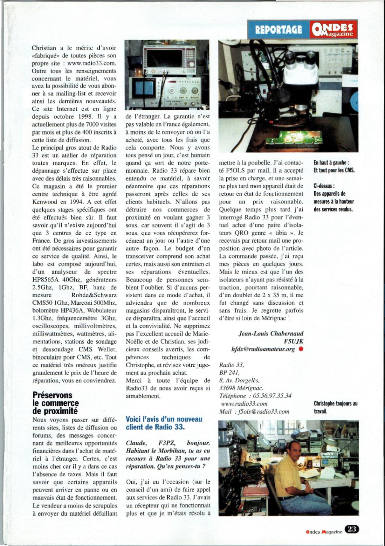 --> SAV-Radio33 - Service Après Vente Radio 33 (Sud-Ouest France) - Page 2 Captu167