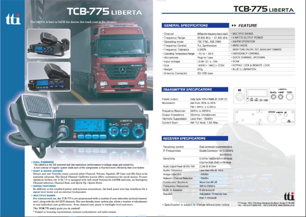 tti TCB-775 Multi (Mobile) Captu870
