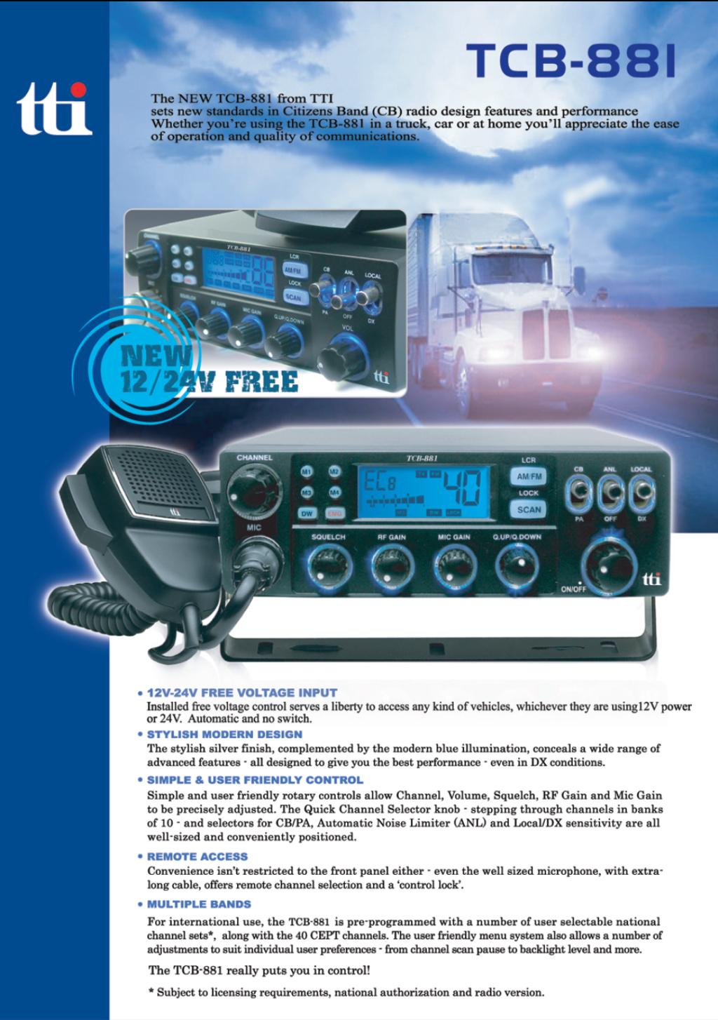 tti TCB-881N (Mobile/Camion) Captu875