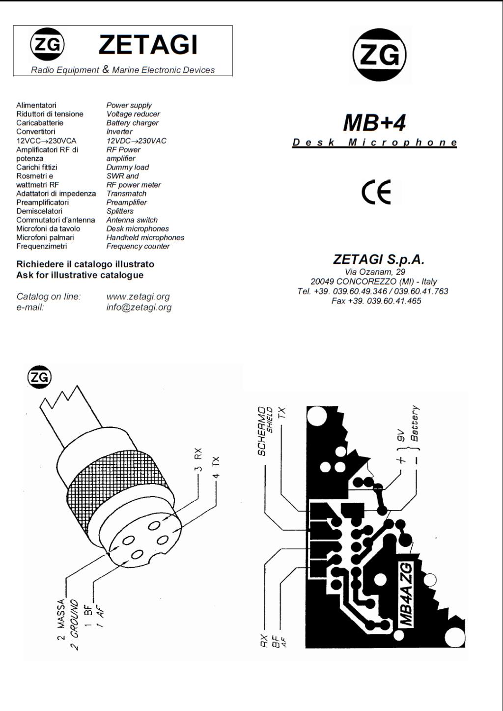 Zetagi MB+4 (Micro de table) Captur57