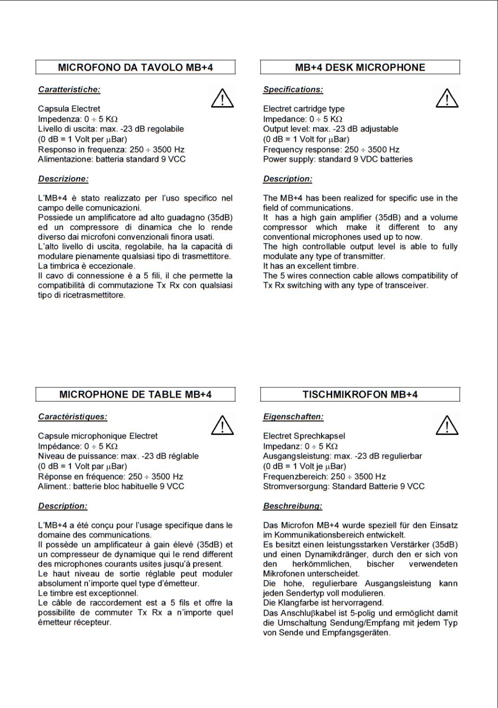 Zetagi MB+4 (Micro de table) Captur58