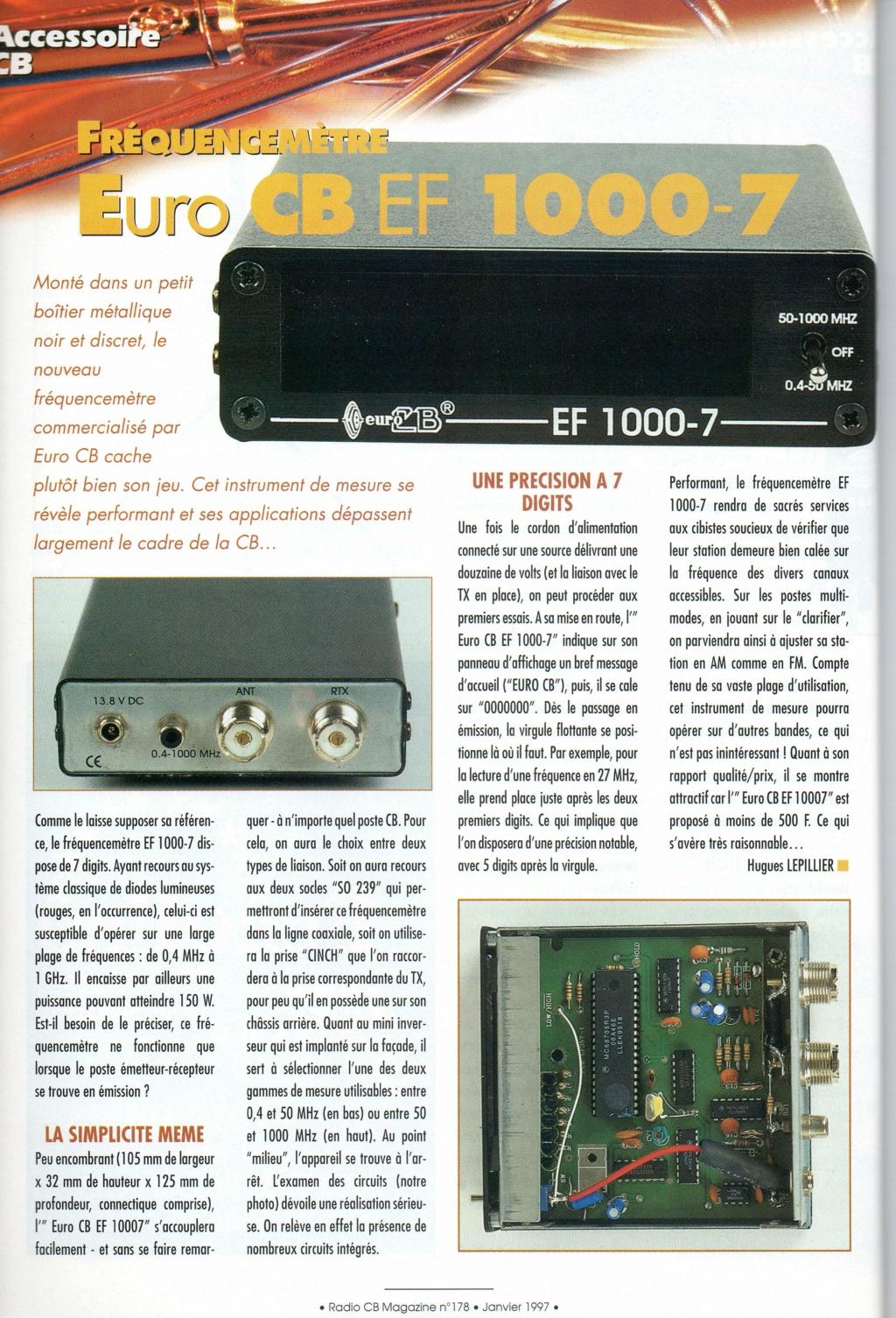 EF - EuroCB EF 1000-6 (Fréquencemètre) Chora298