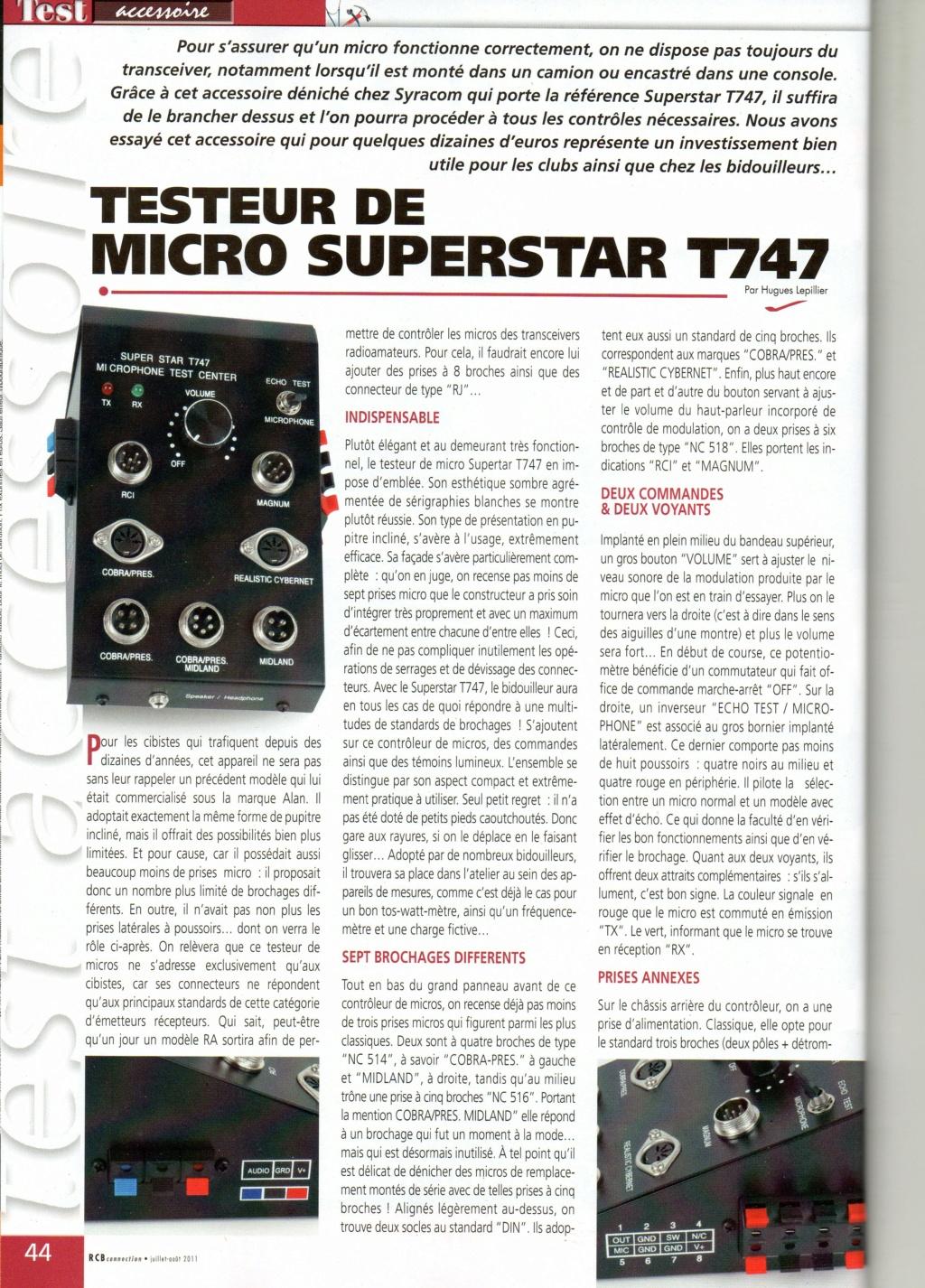T747 - Super Star T747 - Testeur de micros/haut-parleurs/PA Chora579
