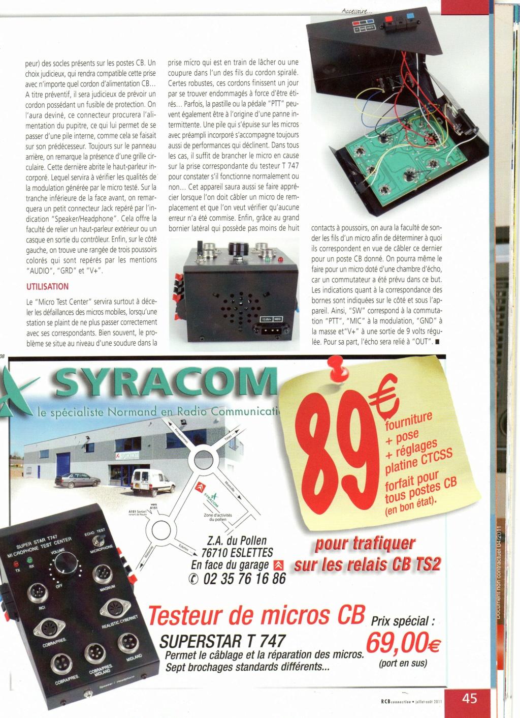 T747 - Super Star T747 - Testeur de micros/haut-parleurs/PA Chora580