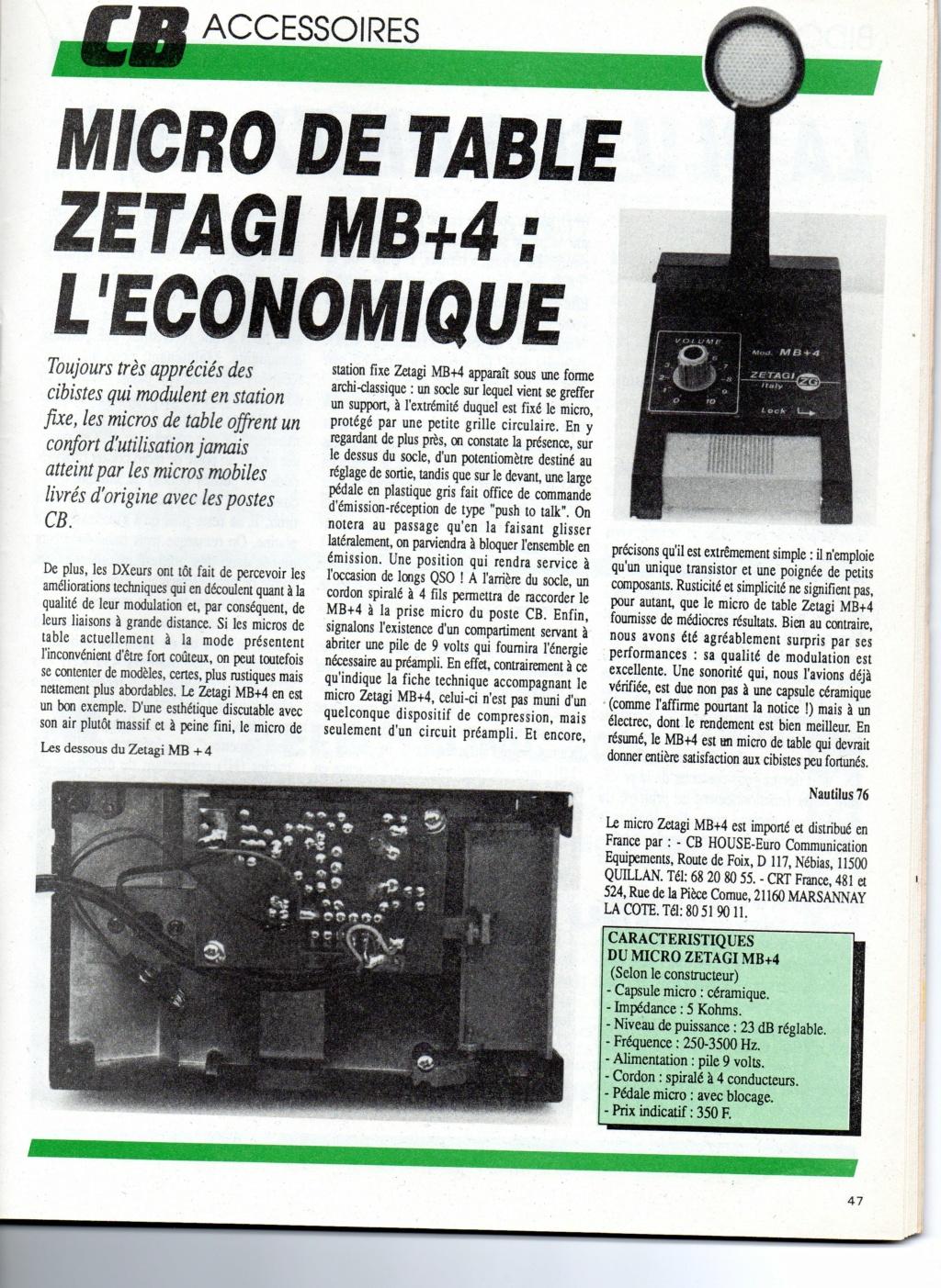 Zetagi MB+4 (Micro de table) Chora582