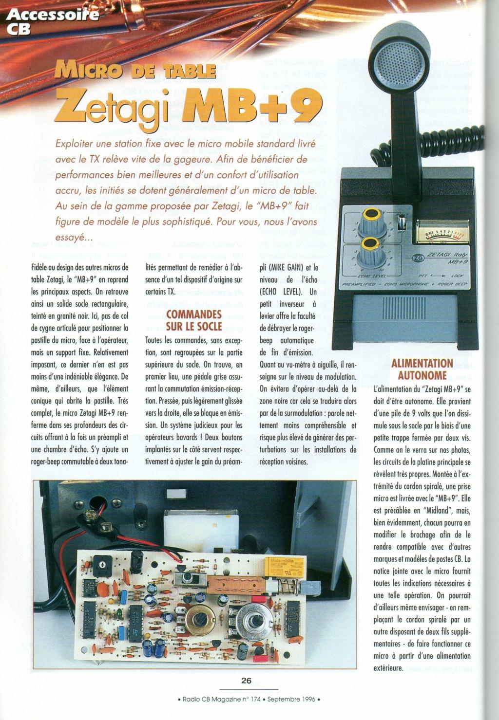 Zetagi MB+9 (Micro de table) Chora583