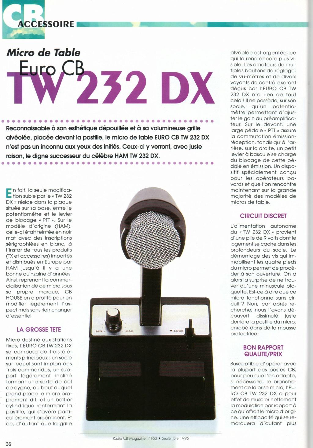 EuroCB TW232DX (Micro de table) Chora592
